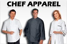 chef jackets pants shoes aprons hats