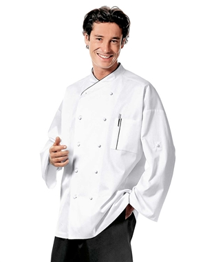 Piery Chef Coat with Black Piping