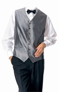 Grey Waiters Vest Restaurant