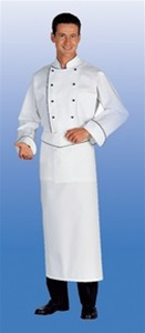 Omera Chef Apron with black piping