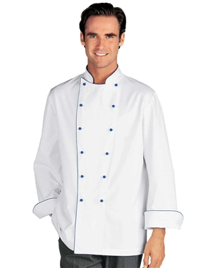 Narvica Chef Jacket with Blue Piping