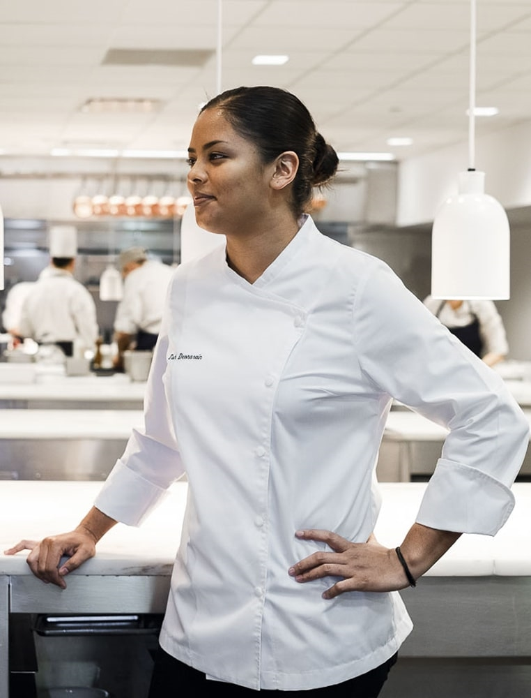 Julia Womens Chef Jacket white