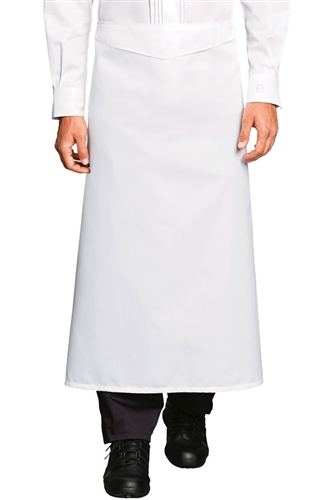 Omer Chef Apron with Blue Piping 100% Pima Premium cotton