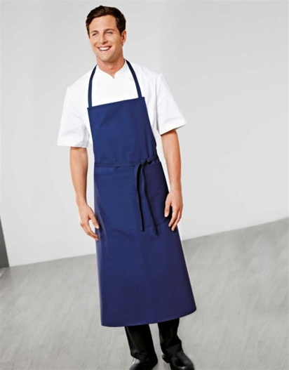 Blue Travel Chef Apron with pouch pocket